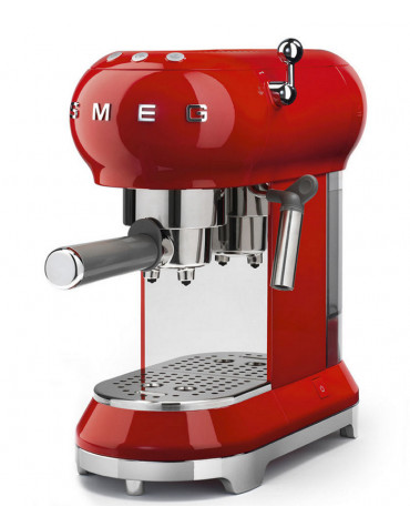 smeg Machine à expresso 15 bars rouge smeg