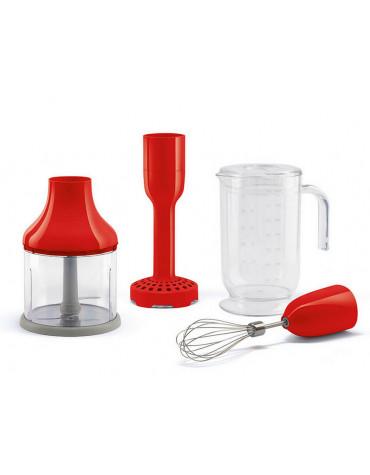 smeg Pack accessoires pour mixeur plongeant rouge smeg