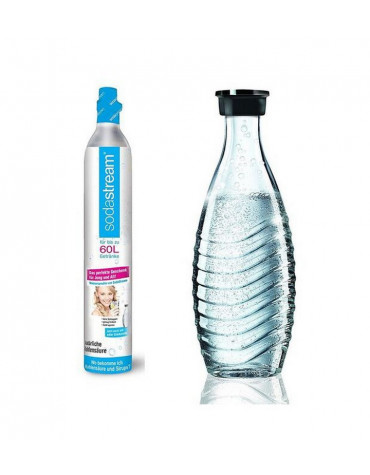 sodastream Pack cylindre de recharge co2 60l + 1 bouteille en verre 0.6l sodastream
