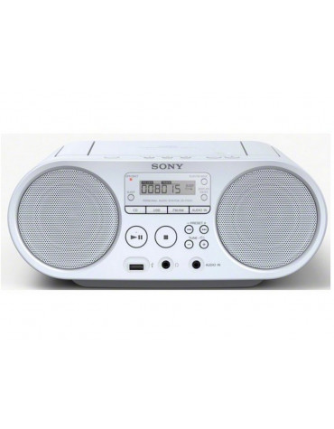 Radio cd usb portable blanc