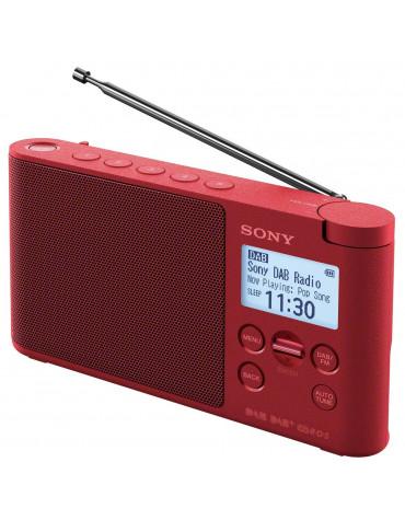 Radio portable numérique rouge