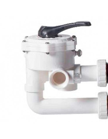 """Vanne multivoies 1""""1/2 pour filtre à sable cristal flo"""