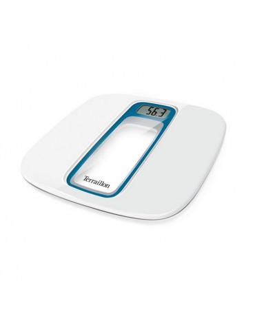 terraillon Pèse-personne électronique 160kg/100g blanc bleu terraillon