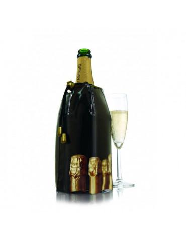 vacu vin Rafraichisseur champagne noir vacu vin