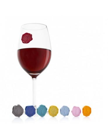 vacu vin Set de 8 marques verres vacu vin