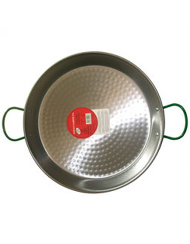 Plat à paella en acier poli 60cm pour 20 personnes