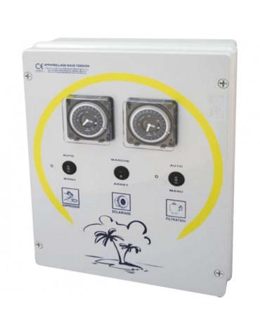 wa conception Coffret electrique pour filtration + 2 projecteurs 300w + balai wa conception