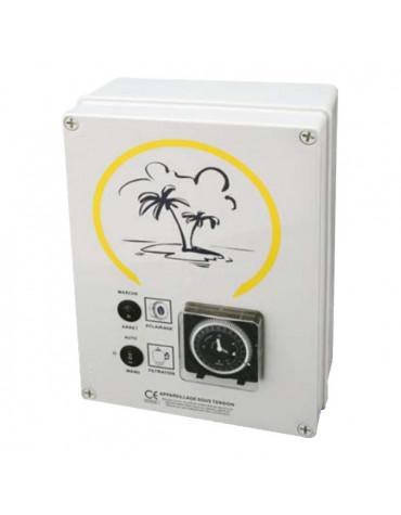 Coffret electrique pour filtration + 2 projecteurs 300w