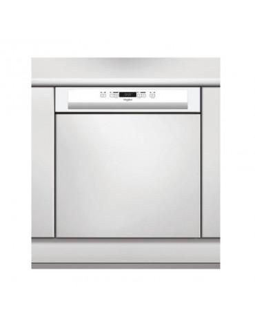 whirlpool Lave-vaisselle 60cm 14 couverts a++ intégrable avec bandeau blanc whirlpool