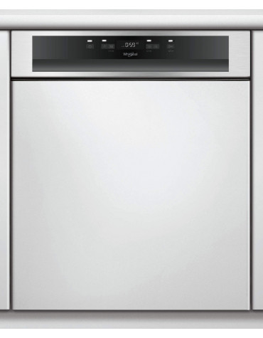 whirlpool Lave-vaisselle 60cm 14c 46db a++ intégrable avec bandeau inox whirlpool