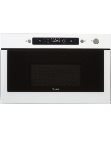 whirlpool Micro-ondes gril encastrable 22l 750w blanc whirlpool