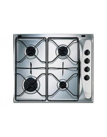 whirlpool Table de cuisson gaz 60cm 4 feux inox whirlpool