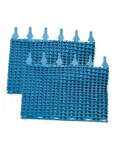Lot de 2 brosses lamelles bleu pour robot indigo