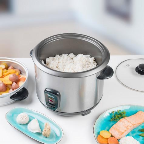 bestron Cuiseur à riz 1.8l 700w avec panier vapeur bestron