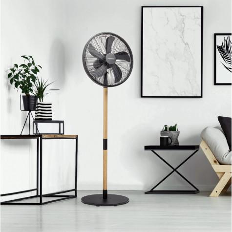 Ventilateur sur pied 45cm noir