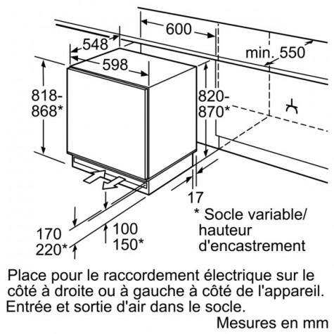 bosch Congélateur intégrable 98 l a+ bosch
