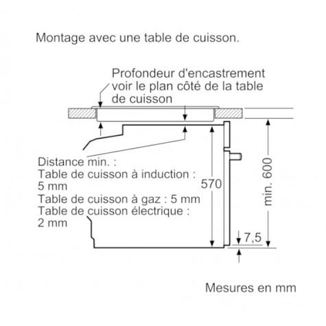 bosch Four intégrable multifonction 71l 60cm a pyrolyse inox bosch