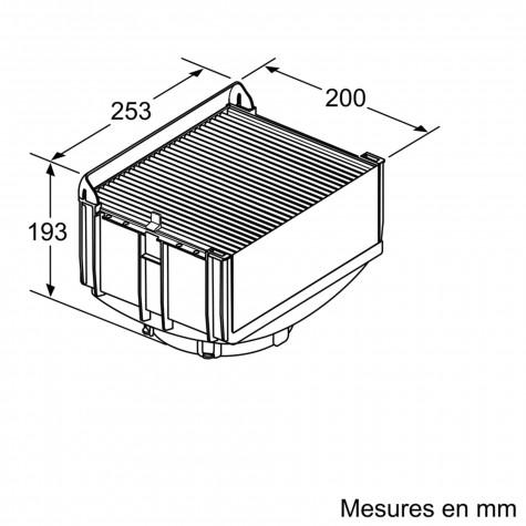 bosch Kit de recyclage cleanair intégré pour hotte bosch