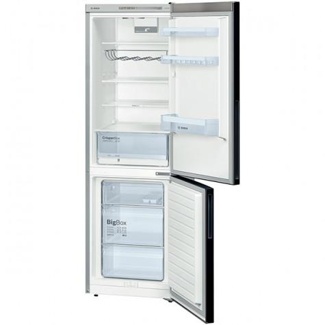 bosch Réfrigérateur combiné 60cm 309l a++ brassé noir bosch