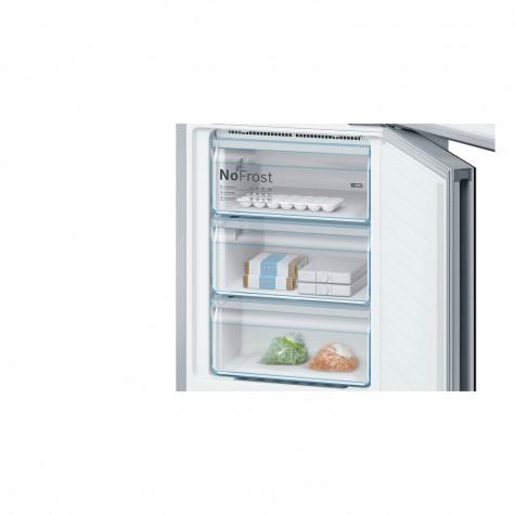 bosch Réfrigérateur combiné 60cm 366l a++ nofrost noir bosch