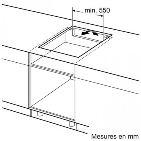 Bosch Table De Cuisson Induction 60cm 3 Feux 4600w Noir
