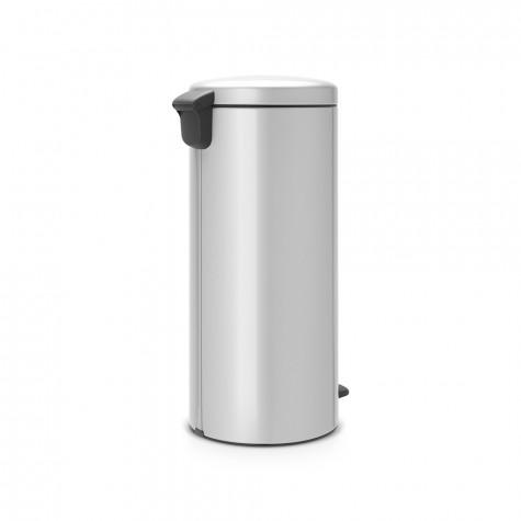 brabantia Poubelle à pédale 30l gris métallique brabantia
