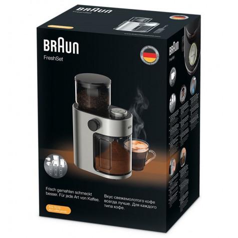 braun Moulin à café 220g 110w inox braun