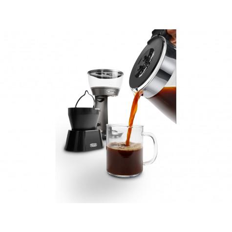 delonghi Cafetière filtre 10 tasses 1800w inox/verre delonghi