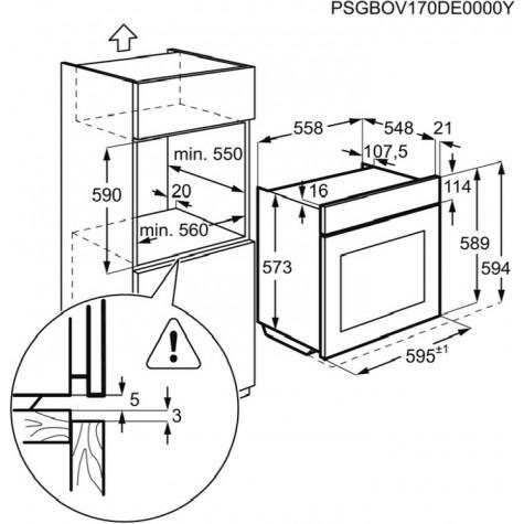 electrolux Four intégrable multifonction 72l 60cm a+ pyrolyse inox electrolux