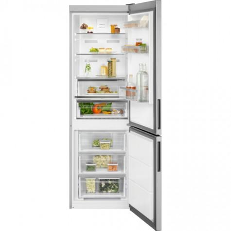 electrolux Réfrigérateur combiné 60cm 324l a++ nofrost inox electrolux