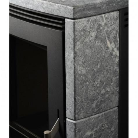 fireplace Poêle à bois 8kw acier gris fireplace