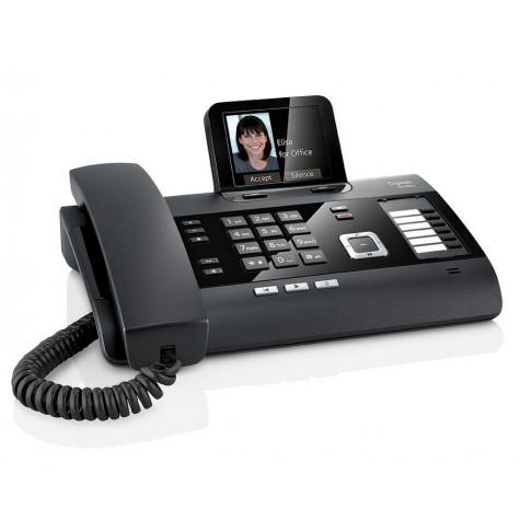 gigaset Téléphone filaire noir avec répondeur gigaset