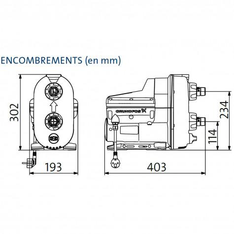 grundfos Surpresseur auto-amorçant domestique avec convertisseur grundfos