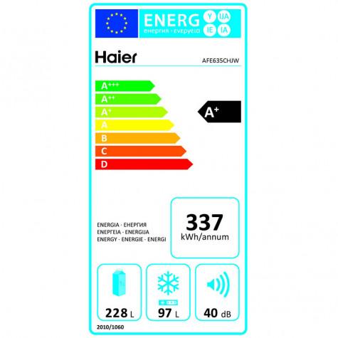 haier Réfrigérateur combiné 60cm 325l a+ nofrost silver haier