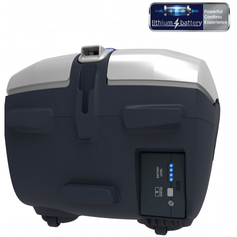 hoover Aspirateur traîneau rechargeable 18v titanium/bleu hoover