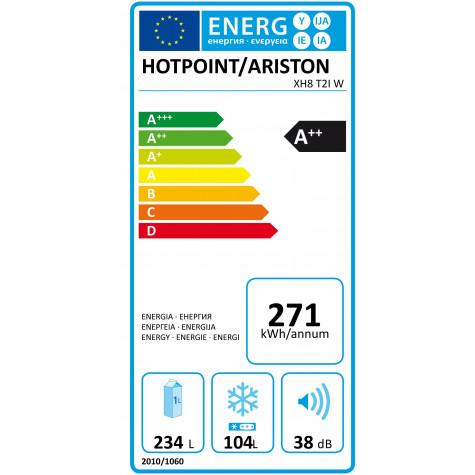 hotpoint Réfrigérateur combiné 60cm 340l a++ no frost blanc hotpoint