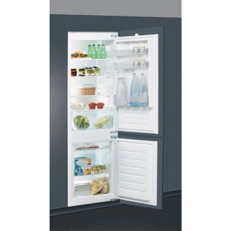 indesit Réfrigérateur combiné intégrable à glissière 275l a+ gris indesit