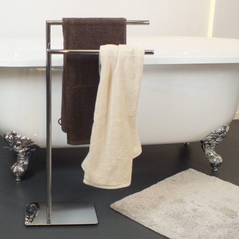 kela line Porte-serviettes en métal chromé kela line