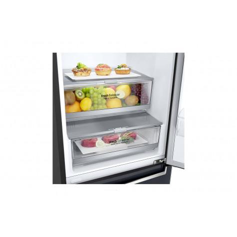 lg Réfrigérateur combiné 60cm 384l a+++ nofrost carbone lg