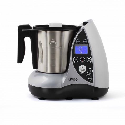 livoo Robot culinaire chauffant 3l 1500w gris livoo