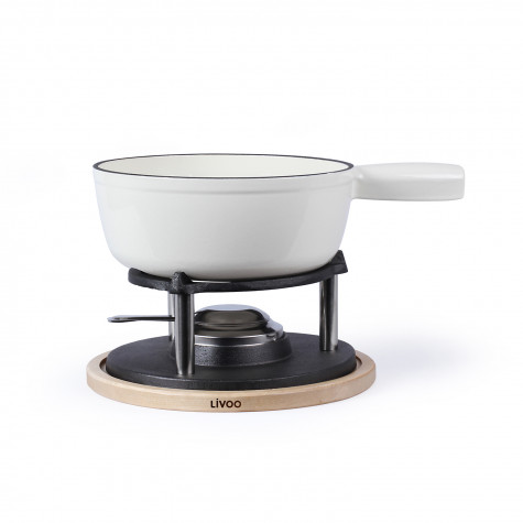 livoo Service à fondue 6 fourchettes blanc livoo