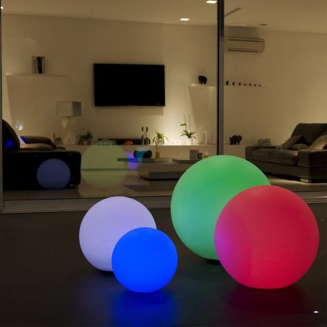 lumisky Boule lumineuse multicolore rechargeable d\'extérieur d.60cm lumisky