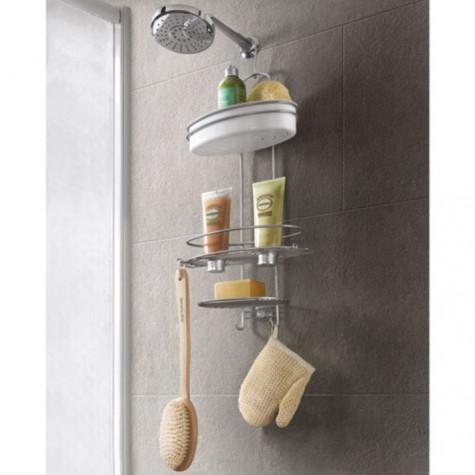 metaltex Etagère valet de douche avec crochet metaltex
