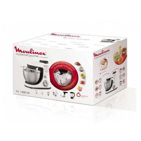 moulinex Robot pâtissier multifonction 4l 900w blanc moulinex
