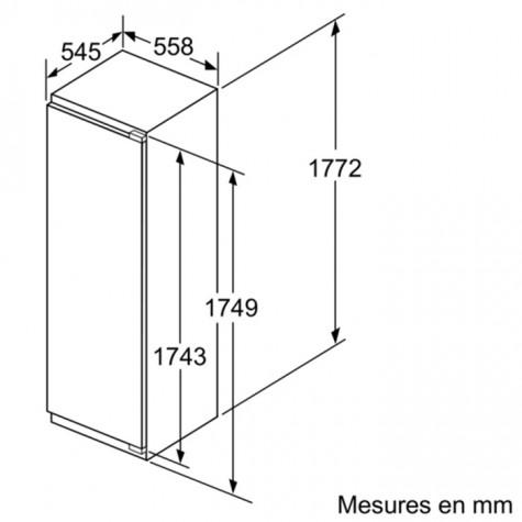 neff Congélateur intégrable à pantographe 211l a++ neff