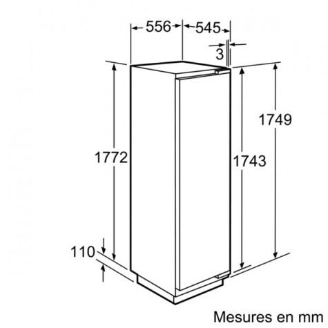 neff Congélateur intégrable à pantographe 212l a++ neff