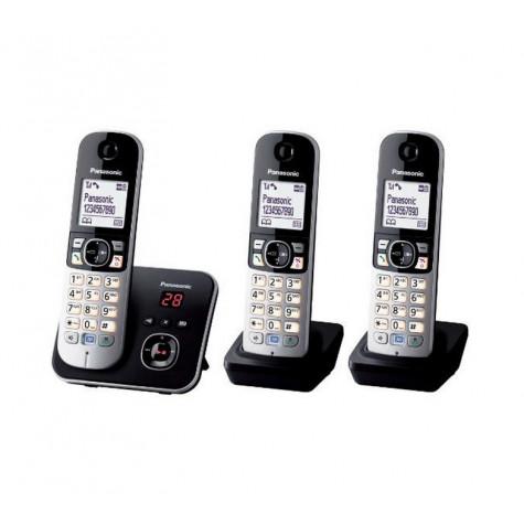 panasonic Téléphone sans fil trio dect avec répondeur noir/argent panasonic