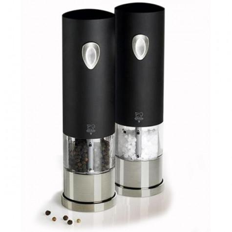peugeot Ensemble moulins électriques sel et poivre 20cm noir/inox peugeot