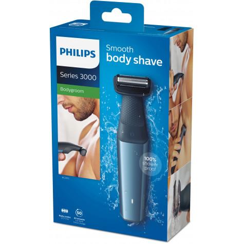 philips Tondeuse et rasoir pour le corps rechargeable utilisable sous l'eau philips
