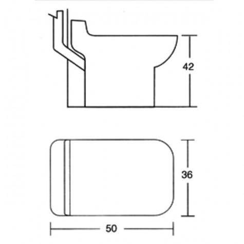 pulsosanit Wc céramique rectangulaire avec broyeur incorporé pulsosanit